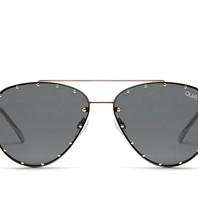 Quay Roxanne zonnebril zwart goud
