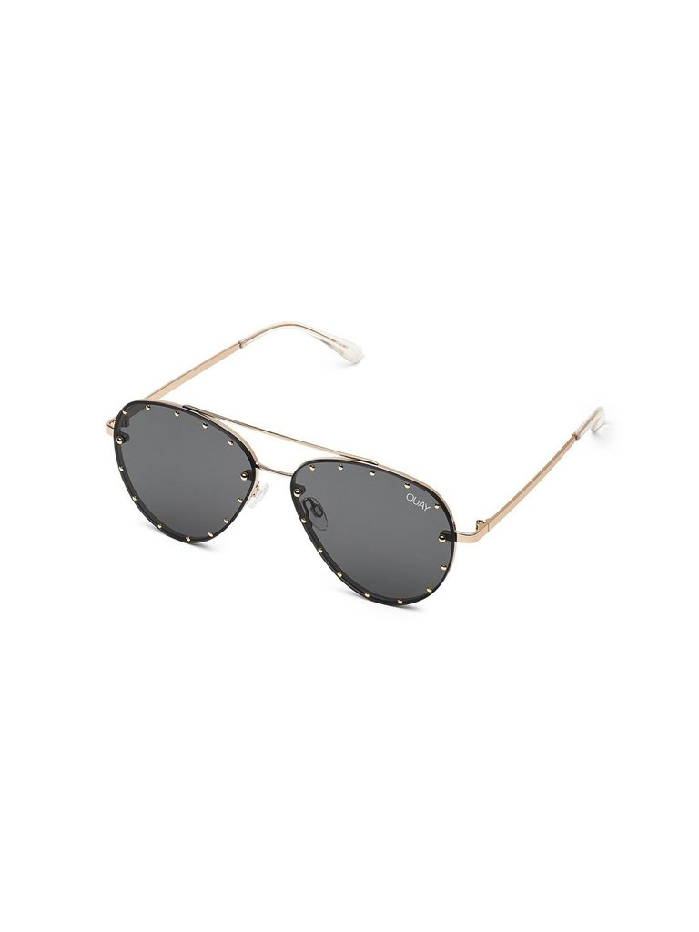 Quay Kai Roxanne Sonnenbrille schwarz gold