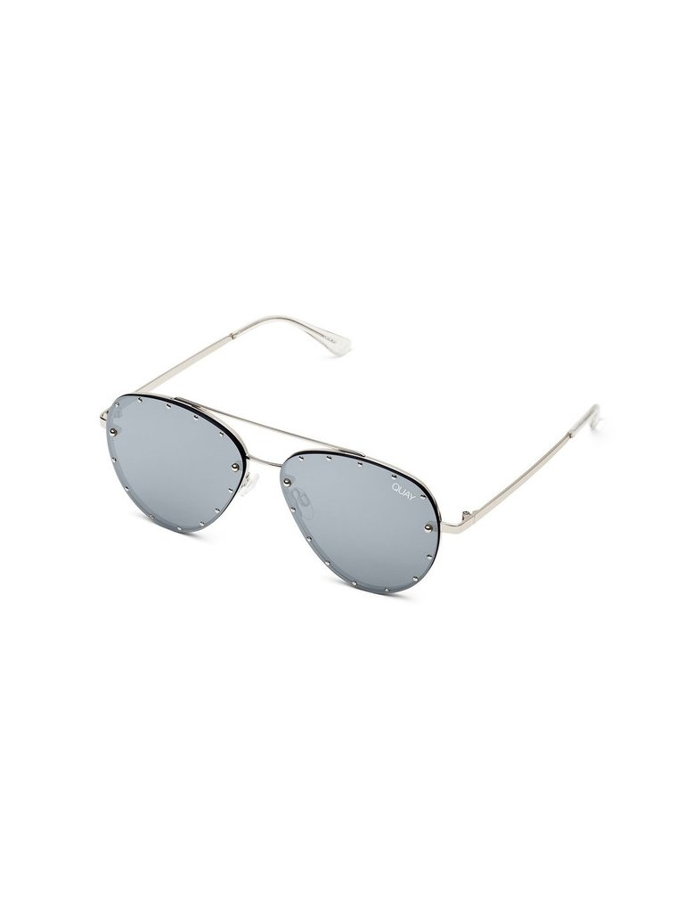 Quay Roxanne zonnebril zilver