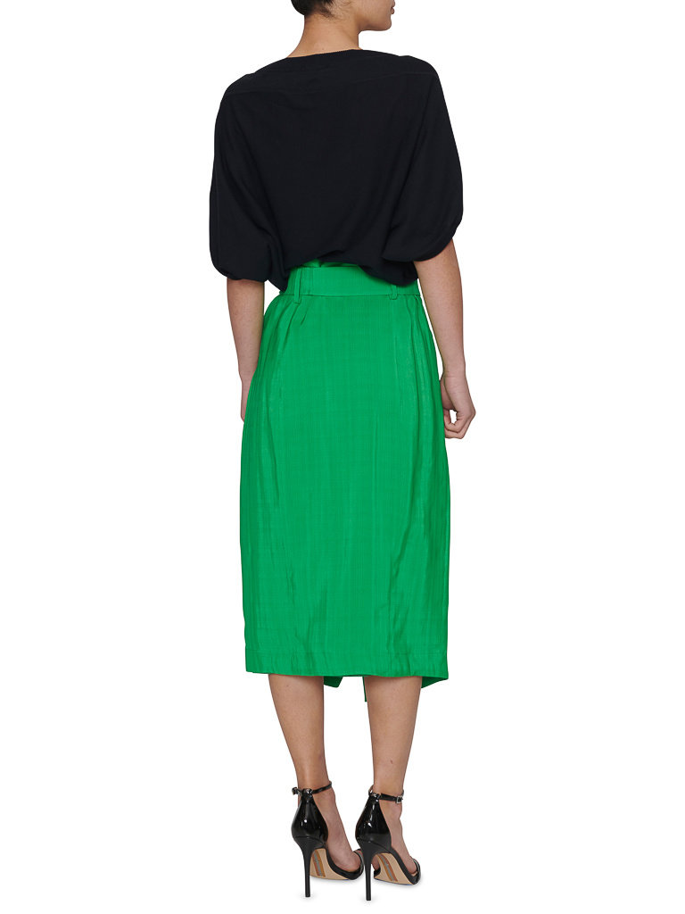 Erika Cavallini Erika Cavallini wrapskirt with belt green