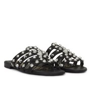 Sam Edelman Beatris Slide Sandalen schwarz mit Nieten