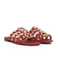 Sam Edelman Beatris Slide Sandalen rood met studs