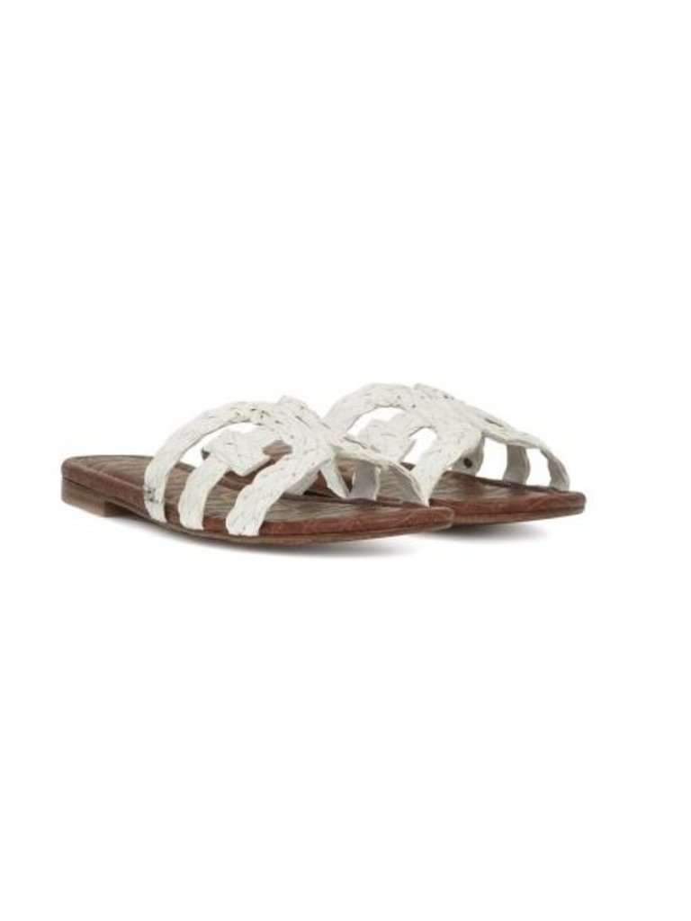3e03d4cbc Sam Edelman Beckie Woven Slide Sandals white - VLVT Online