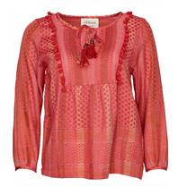 Cecilie Copenhagen Cecilie Copenhagen Beatrice Shirt Pompom Details rosa rot