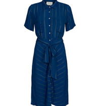 Cecilie Copenhagen Cecilie Copenhagen Eva dress with buttons down blue
