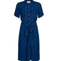 Cecilie Copenhagen Cecilie Copenhagen Eva jurk met buttons down blauw