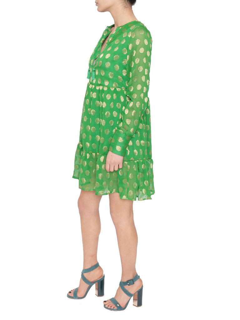 Cecilie Copenhagen Cecilie Copenhagen Dea jurk met stippen groen