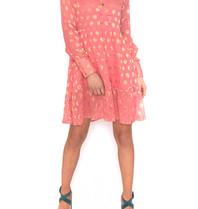 Cecilie Copenhagen Cecilie Copenhagen Dea jurk met stippen roze
