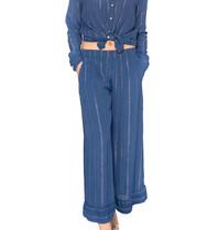 Cecilie Copenhagen Cecilie Copenhagen Hanna broek met strepen blauw