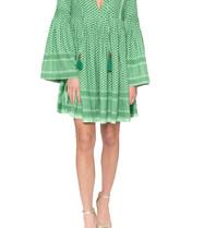 Cecilie Copenhagen Cecilie Copenhagen Souzaline jurk met print groen