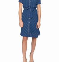 Cecilie Copenhagen Cecilie Copenhagen Eva dress with buttons down blue
