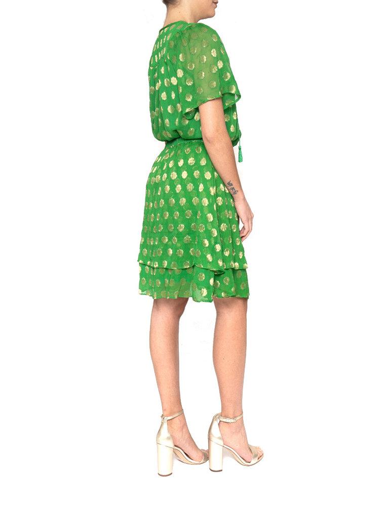 Cecilie Copenhagen Cecilie Copenhagen Linda blouse met stippen groen