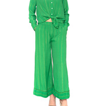 Cecilie Copenhagen Cecilie Copenhagen Amalie blouse with buttons down green
