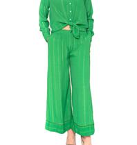 Cecilie Copenhagen Cecilie Copenhagen Amalie Bluse mit grünen Knöpfen