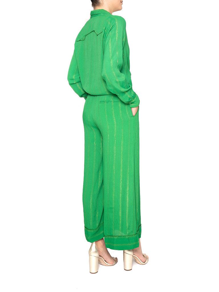 Cecilie Copenhagen Cecilie Copenhagen Hanna Hose mit Streifen grün