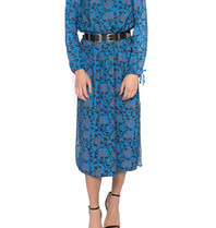 Cecilie Copenhagen Cecilie Copenhagen Santena Kleid mit Print blau schwarz