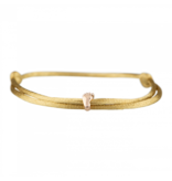 Goldbandits GoldBandits Schnur Armband Baby Fuß Roségold