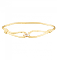 Goldbandits GoldBandits cord bracelet What comes around rose gold white gold