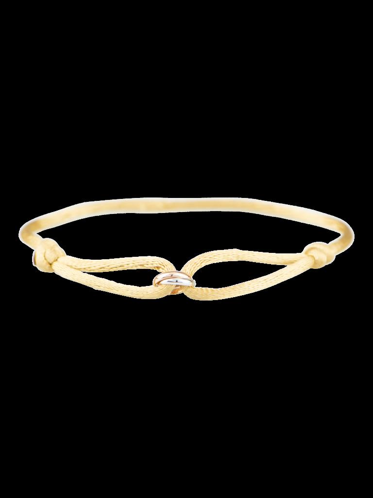 Goldbandits GoldBandits koord armband What comes around rosé goud witgoud