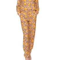 Cecilie Copenhagen Cecilie Copenhagen hero broek met print peach geel