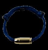 Goldbandits GoldBandits koord armband I'm bulletproof geelgoud
