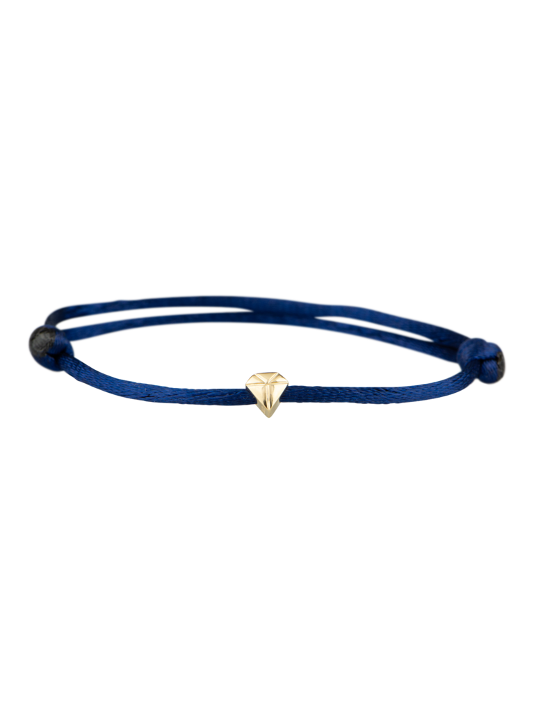 Goldbandits GoldBandits koord armband diamond geelgoud