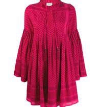 Cecilie Copenhagen Cecilie Copenhagen Souzaline Kleid mit pinkem Aufdruck