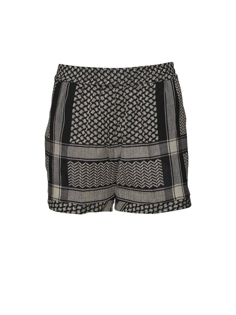 Cecilie Copenhagen Cecilie Copenhagen shorts met print zwart