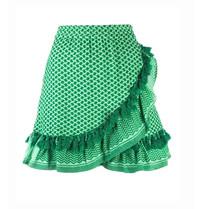 Cecilie Copenhagen Cecilie Copenhagen Sonja skirt with tassels green