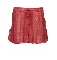 Cecilie Copenhagen Cecilie Copenhagen Holly shorts with lurex details pink red