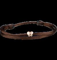 Goldbandits GoldBandits koord armband Heart rosé goud