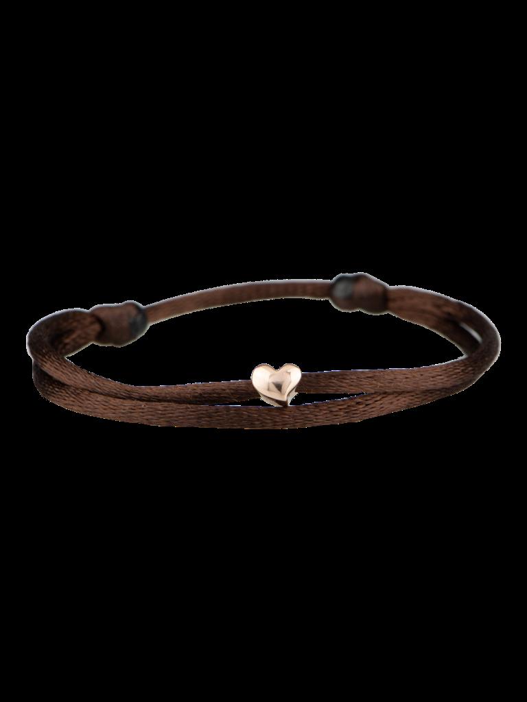 Goldbandits GoldBandits cord bracelet Heart rose gold