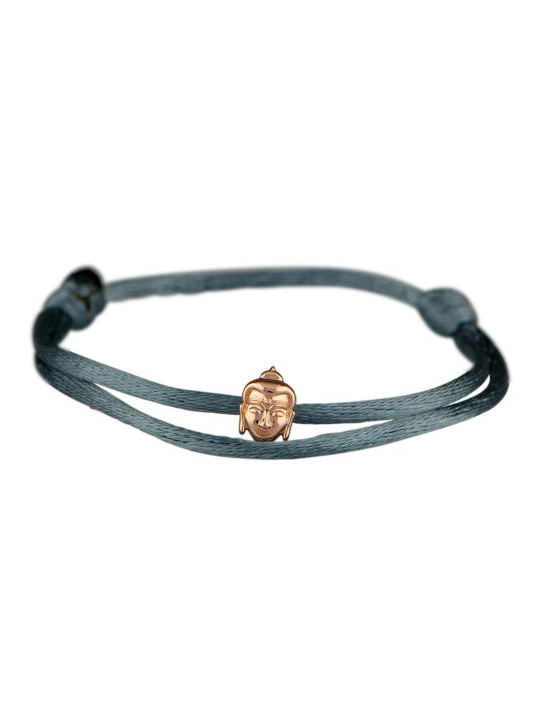 Goldbandits GoldBandits cord bracelet buddha rose gold