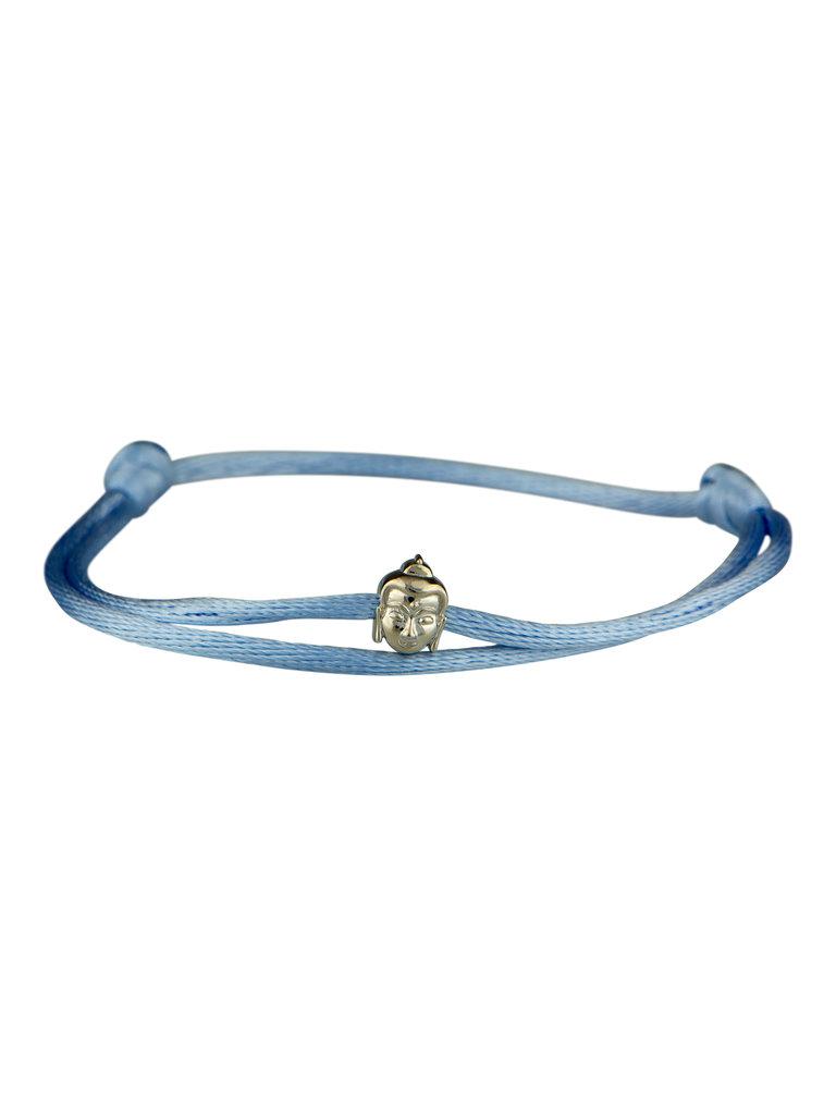 Goldbandits GoldBandits cord bracelet buddha white gold