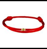 Goldbandits GoldBandits cord bracelet mini lips yellow gold