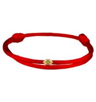 Goldbandits GoldBandits Kordel Armband Mini Lippen Gelbgold