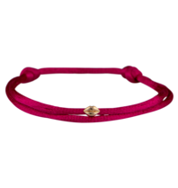 Goldbandits GoldBandits Mini lips rosé goud koord armband
