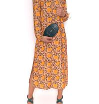 Cecilie Copenhagen Cecilie Copenhagen Santena dress with print peach yellow
