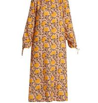 Cecilie Copenhagen Cecilie Copenhagen Santena jurk met print peach geel