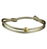 Goldbandits GoldBandits koord armband met diamant geelgoud