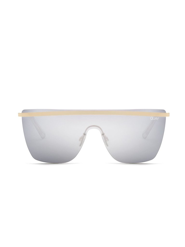 Quay Kai x JLO Get Right Sonnenbrille goldsilber