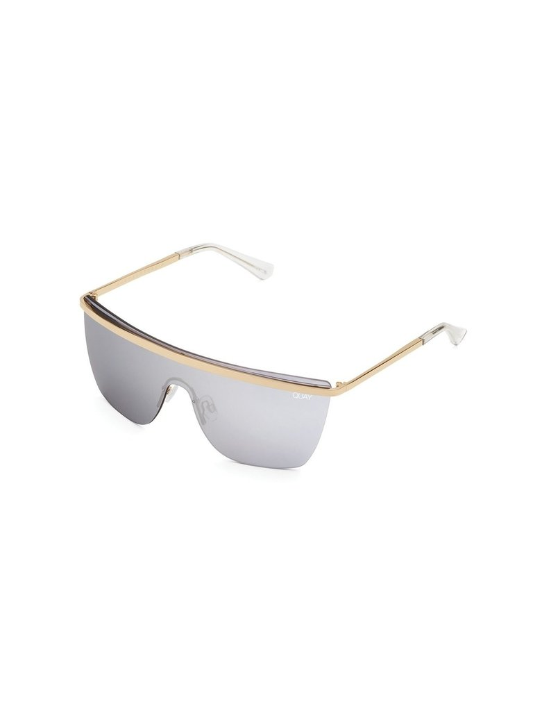 Quay Quay x JLO Get Right sunglasses gold silver