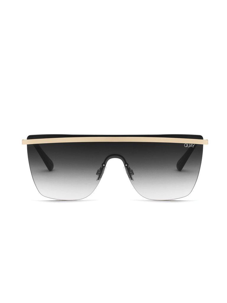 Quay Kai x JLO Get Right Sonnenbrille gold schwarz