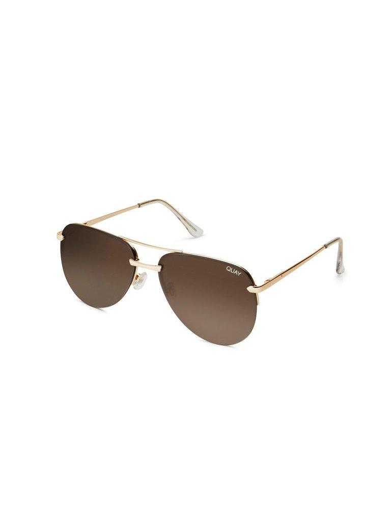 Quay Kai Die Playa Sonnenbrille goldbraun