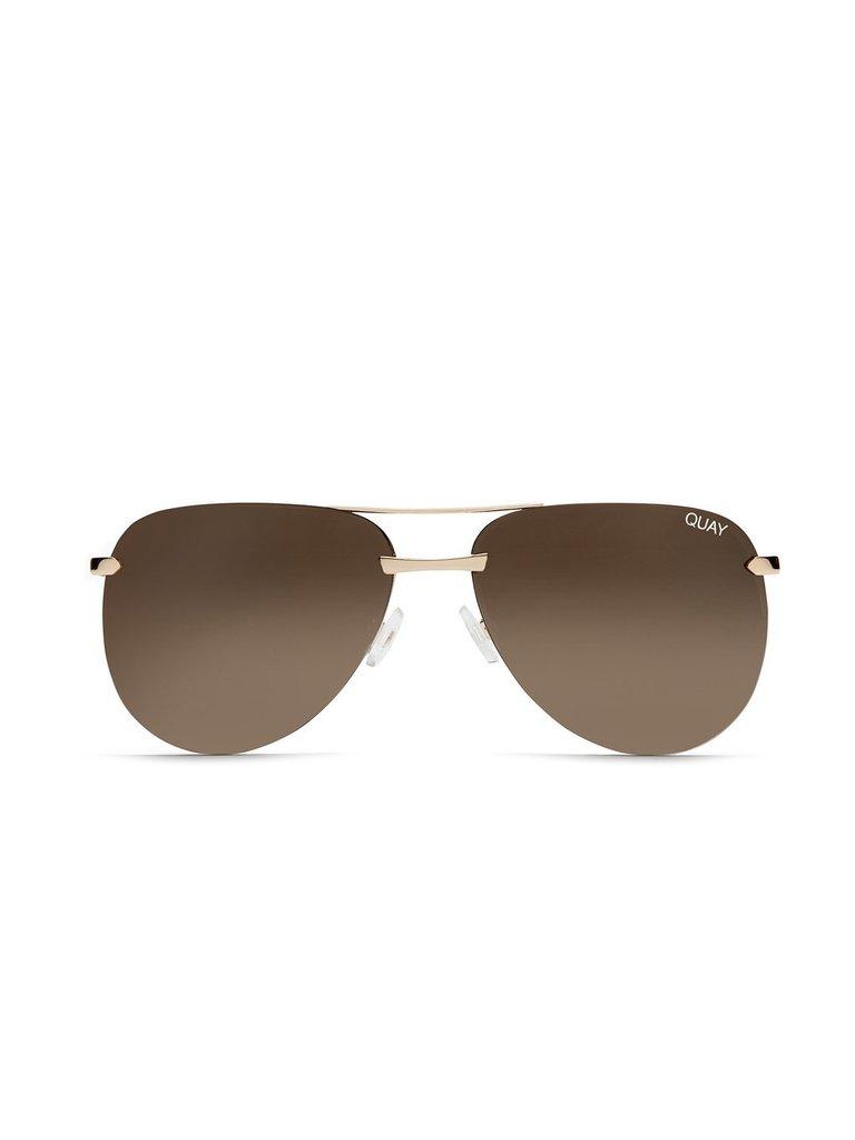 Quay Quay The Playa sunglasses gold brown