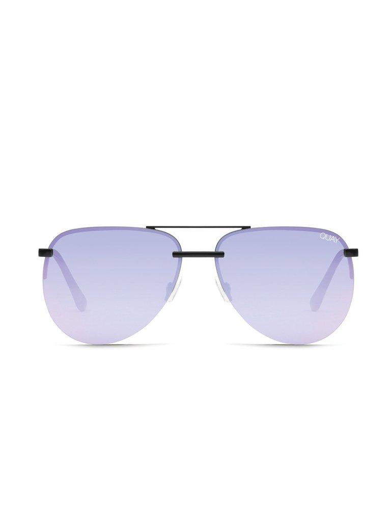 Quay Kai x JLO Die Playa Sonnenbrille schwarz lila