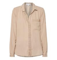 Bella Dahl Bella Dahl blouse met blinde knoopaansluiting zandkleur