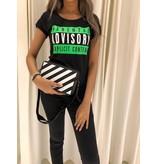 VLVT Parental Advisory tee groen zwart