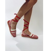 So Jamie So Jamie Oasis espadrilles with laces red white