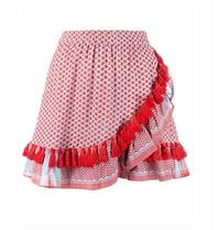 Cecilie Copenhagen Cecilie Copenhagen Sonja skirt with tassels red